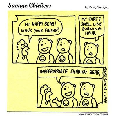 Savage Chickens - Sharing