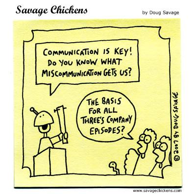 Communication Cartoon Savage Chickens Cartoons on