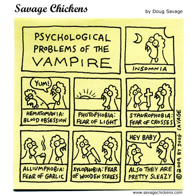 Savage Chickens - Vampire Problems