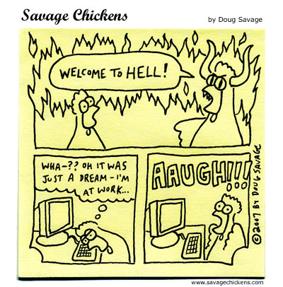 Savage Chickens - Welcome to Hell