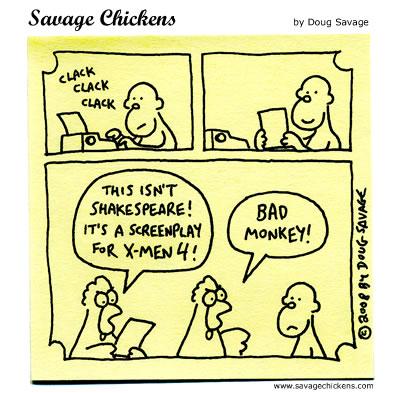 Savage Chickens - Writer Monkey