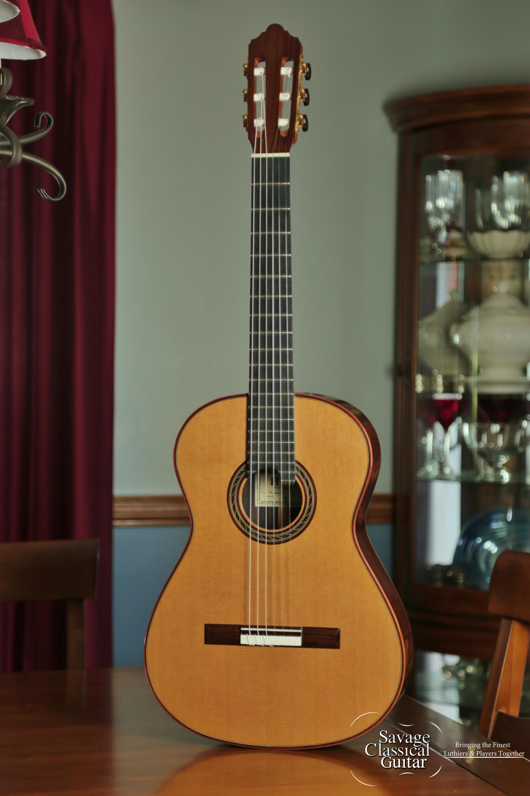 Kenny Hill Performance Classical Guitar #3897 Cedar Double Top with Lattice Bracing