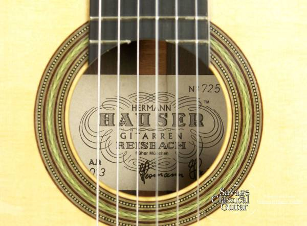 2014 Hermann Hauser III Classical Guitar Segovia Model