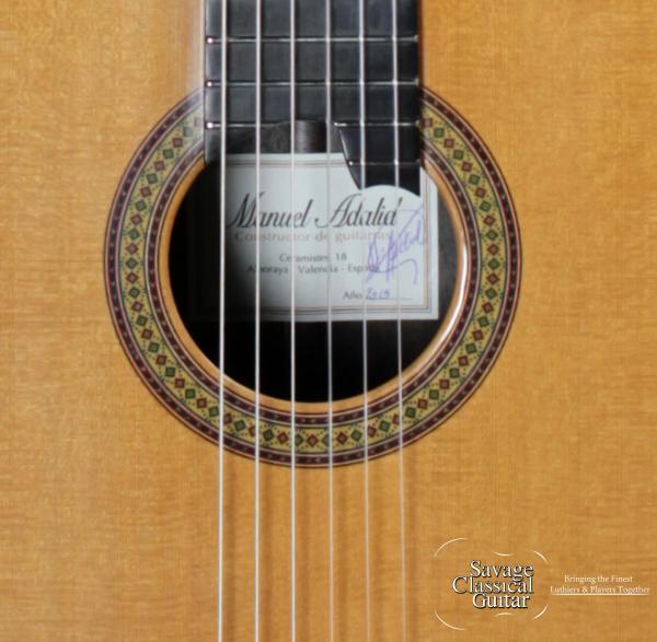 Manuel Adalid Classical Guitar - La Catedral II - Alboraya Shop - Cedar Malaysian Blackwood