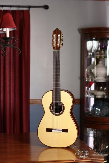 Kenny Hill Performance Classical Guitar #3973 Spruce 630mm Double Top with Lattice Bracing Small Bodied Classical Guitar (3/4 Torres Sized guitar)