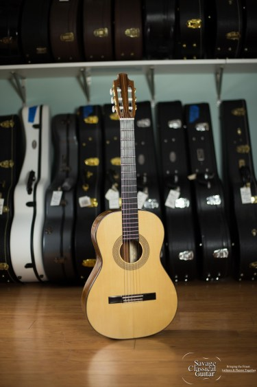 John Pete Barthell Classical Guitar #S-86 Spruce Macassar Ebony