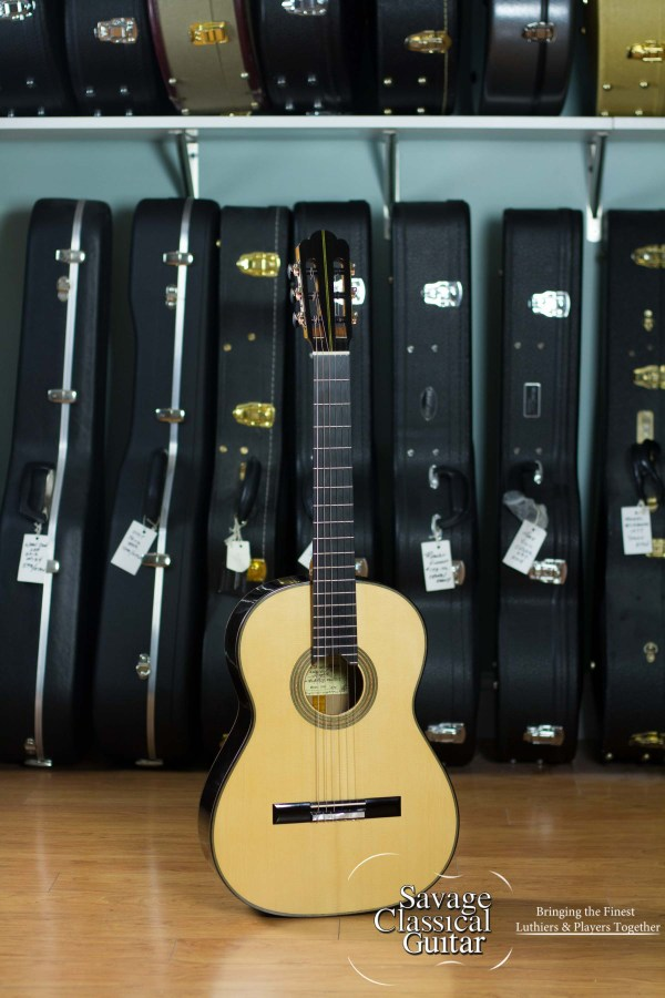 GV Rubio Hauser Elite Classical Guitar #81914 640mm Spruce African Blackwood