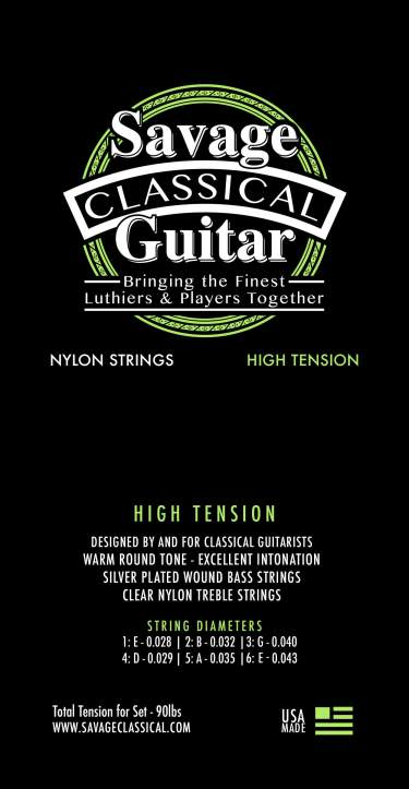 Savage Classical Guitar Classical Guitar Strings High Tension