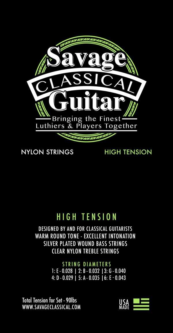 Savage Classical Guitar Classical Guitar Strings High Tension