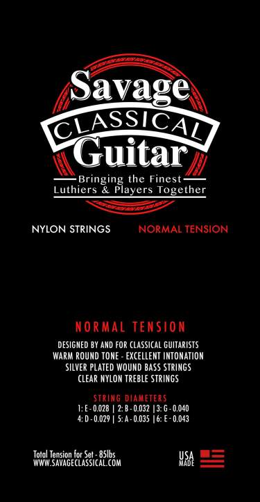 Savage Classical Guitar Classical Guitar Strings Normal Tension