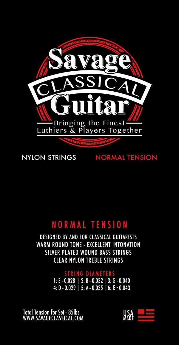Savage Classical Guitar Classical Guitar Strings Normal Tension