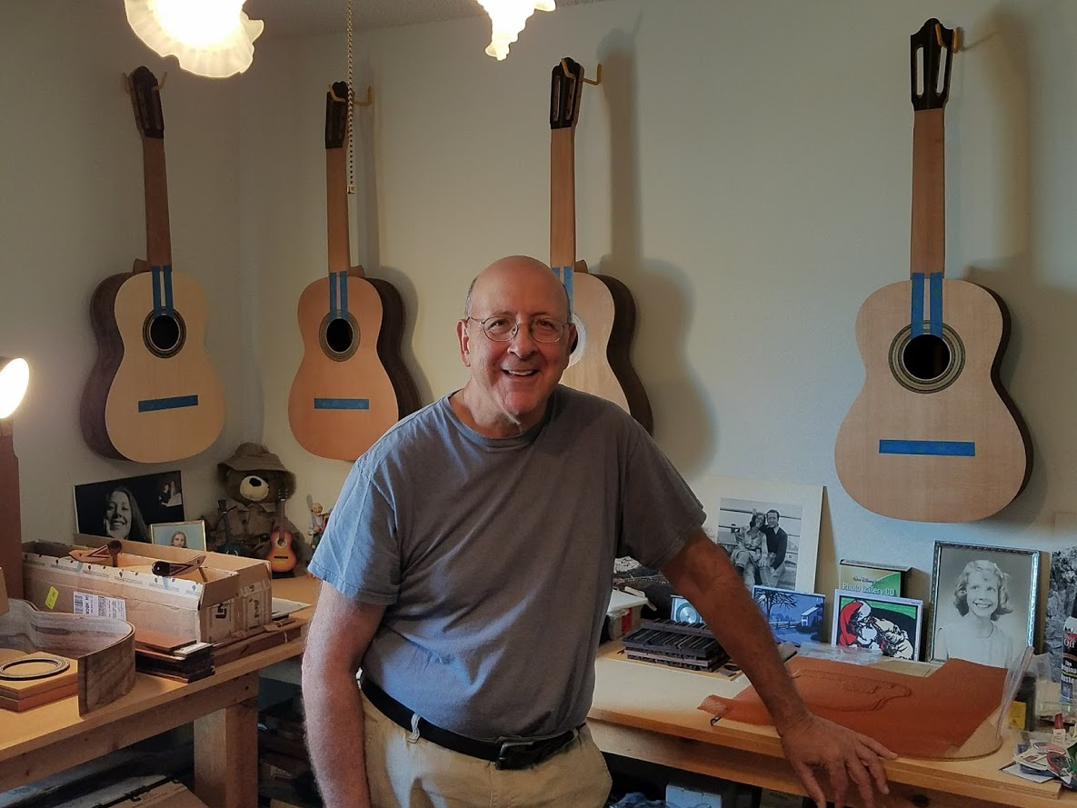 Bob Desmond and his 4 homage guitars