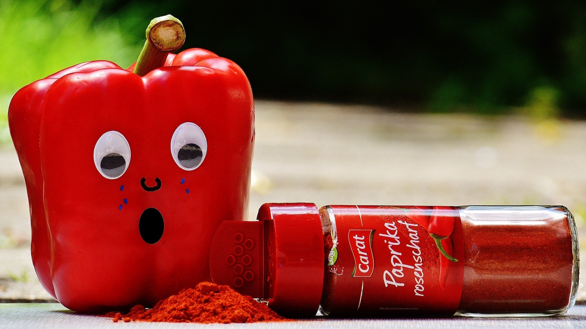 red pepper paprika bottle