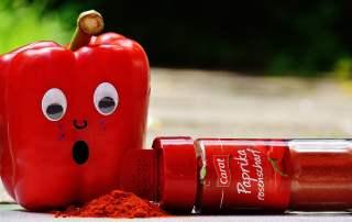 red pepper paprika bottle