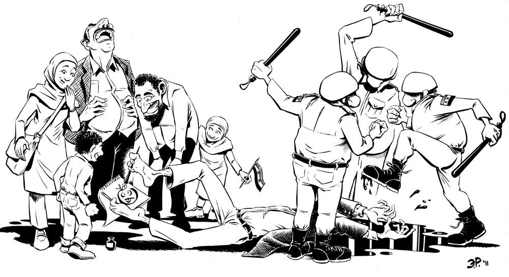 Recovering Apostrophobiac: Cartoon for Ali Farzat