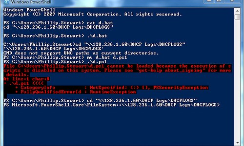 Two helpful powershell scripts I used this weekend
