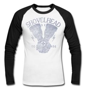 Shovelhead Long Sleeve Baseball T-Shirt