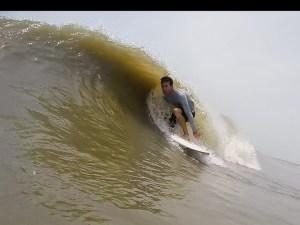 surfing Tybee island