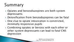Benzos and opiates
