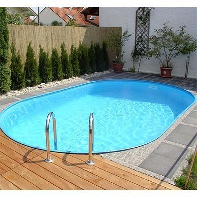 Zwembad Set Ovaal Inbouw Maatvoering Ovaal M Boven Rail Click Blauw Blue Style Liner Mm