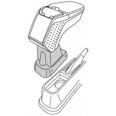 Apoyabrazos específico AR9 para Fiat Linea, Punto, Grande