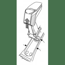 Apoyabrazos específico AR9 para Opel Meriva B sin Flexrail
