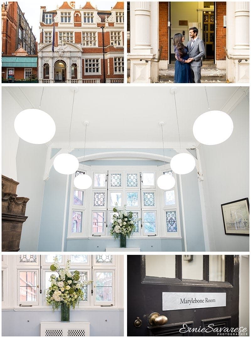 Mayfair Library Wedding Photography Autumn Winter