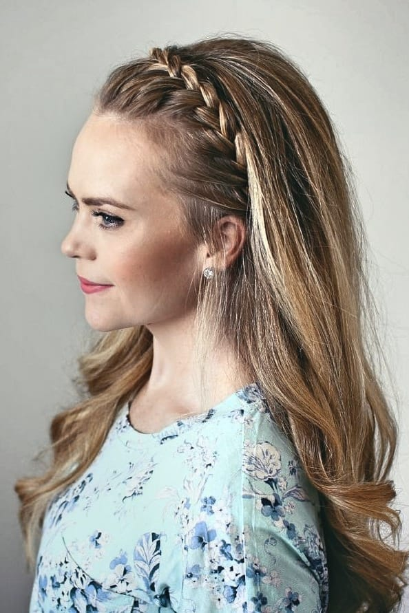 Dirndl Frisuren mit Haarband Ideen