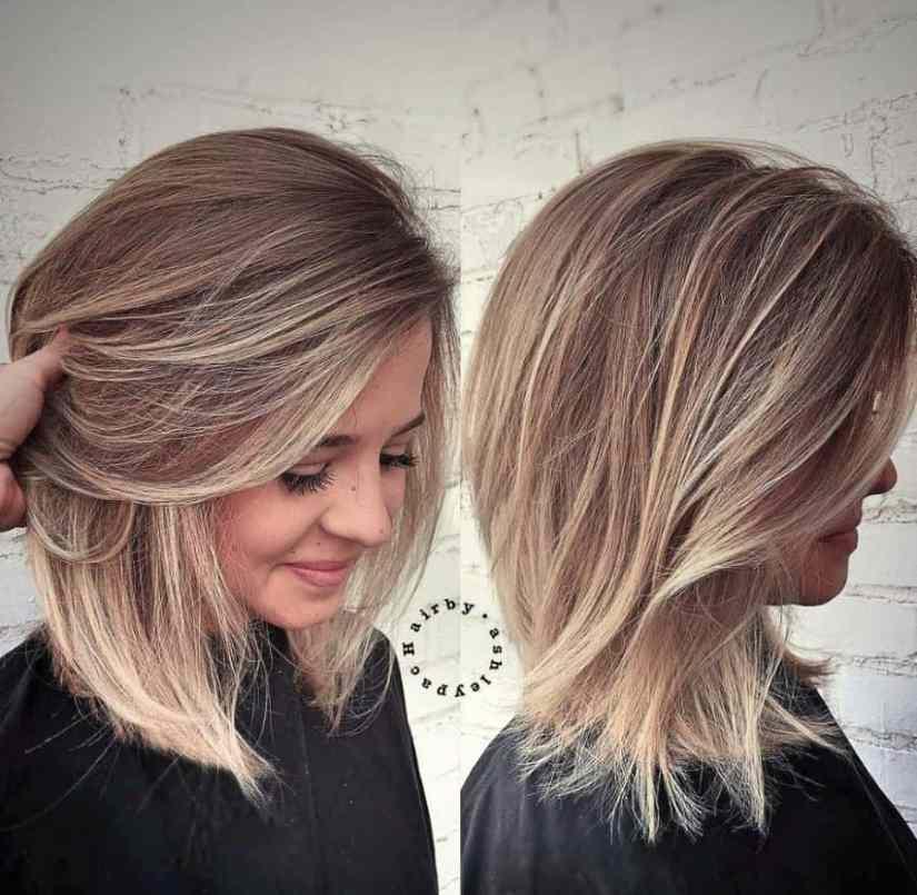 Frisuren Mittellang Feines Haar Rundes Gesicht