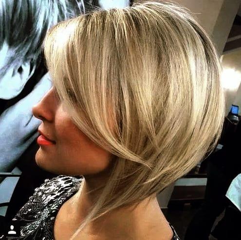Inspirationen Bob Frisuren Blond Umgekehrter Bob für dünnes Haar Ideen