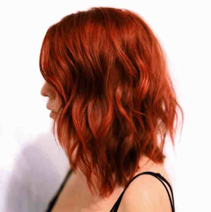Inspirationen Bob Frisuren Rot Helle rote Bob-Frisur