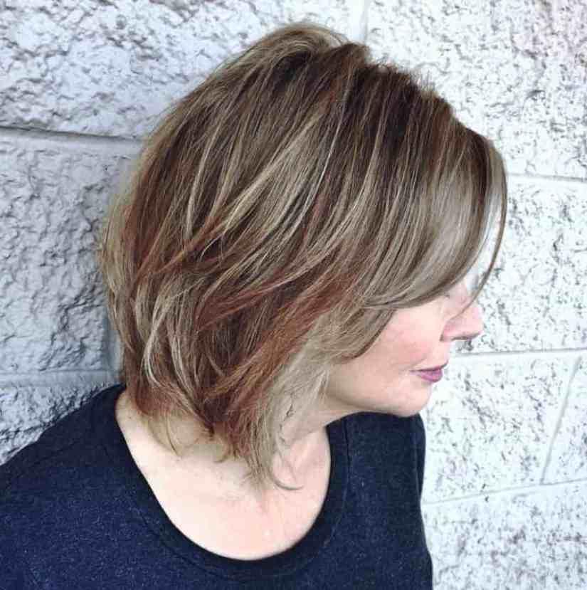 Neuer Frisuren ab 50 Feines Haar Ideen Schulter-grasender wispy Schnitt