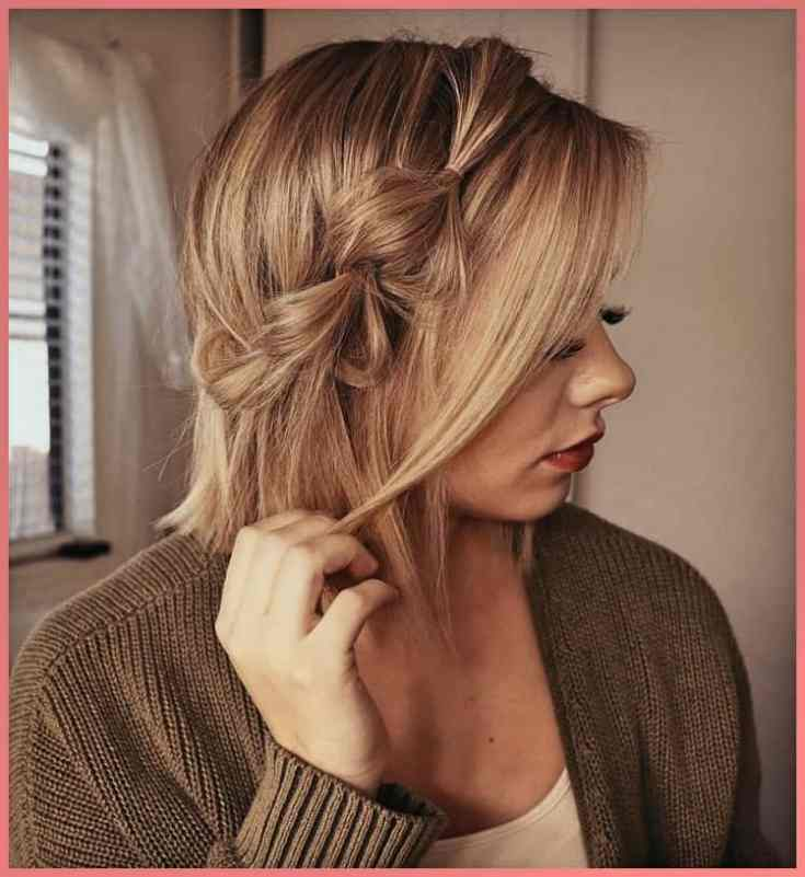Akzent-Zopf Mittellange Haare