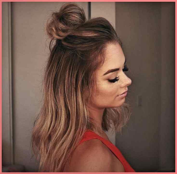 Haarknoten-Magie Mittellange Haare Stylen Ideen