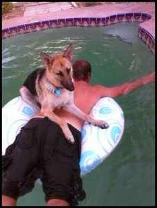 Izzy in the pool