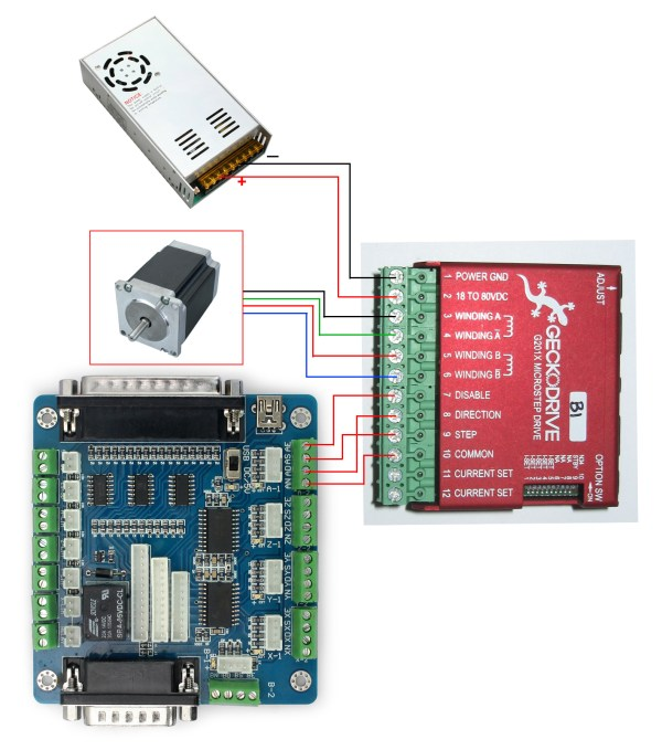 on 4 axis dm542a wiring diagram db25