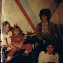 Charles D. Raby with Charlotte M, sister and Mum