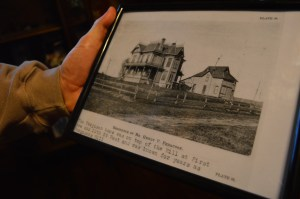 An early photo provided by Cedar Rapids historian Mark Stoffer Hunter shows the home at the top of the hill as it looked in the late-1800s.
