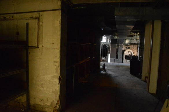 The basement, where bodies were kept in the former funeral home, is shown earlier this summer. (photo/Cindy Hadish)