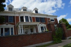 Also known as the former Turner Mortuary, the George B. Douglas mansion, next to the new Central Fire Station in Cedar Rapids, is on the National Register of Historic Places. (photo/Cindy Hadish)
