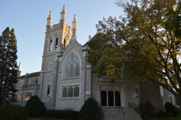 Leaders of Westminster Presbyterian Church, shown in October 2014, say they would like the nearby house they own removed because it has become an eyesore and to provide green space for church functions. (photo/Cindy Hadish)