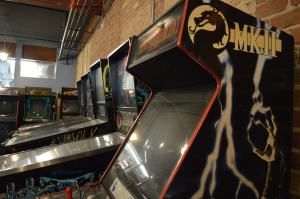 Retro arcade games and pinball machines are featured at the Quarter Barrel in Cedar Rapids. (photo/Cindy Hadish)