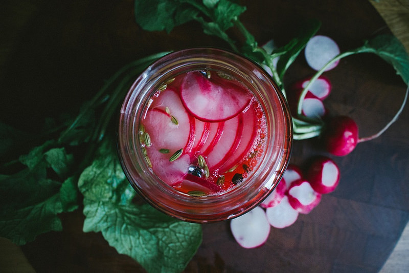 pickles de radis roses