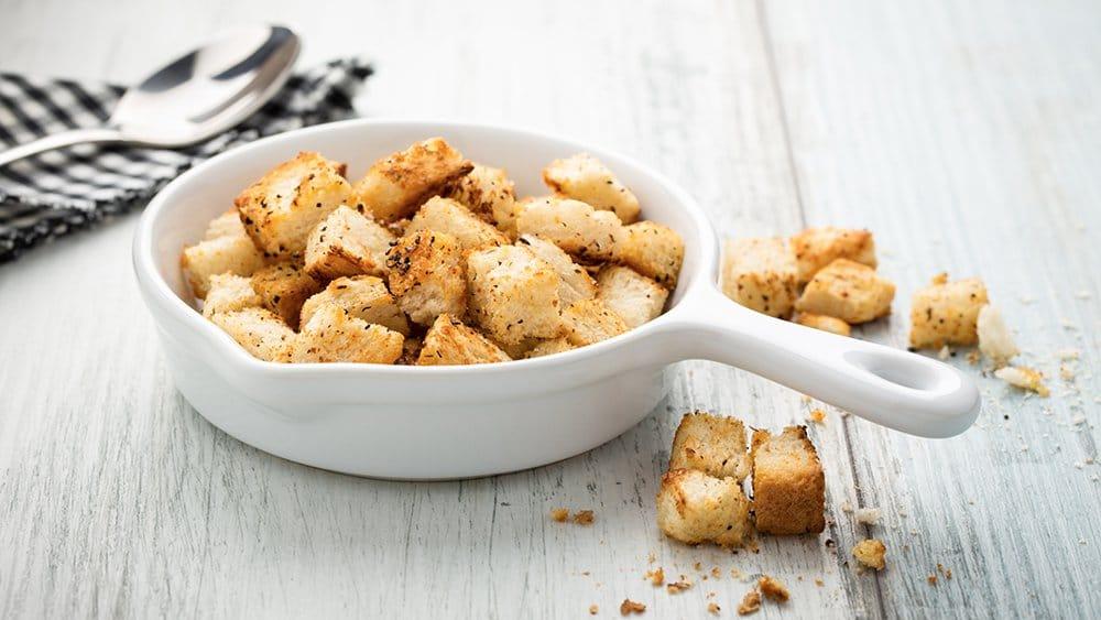 recette croutons de pain dur