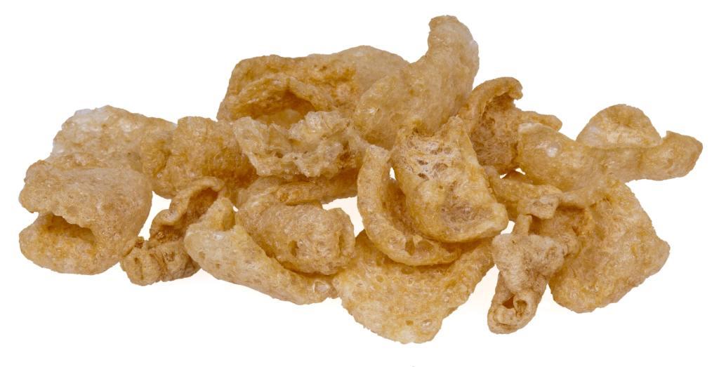 chips de couenne de jambon de porc