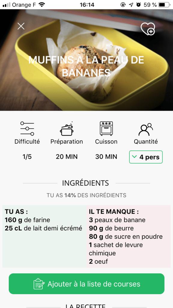 recette antigaspi avec save eat l'application anti-gaspi