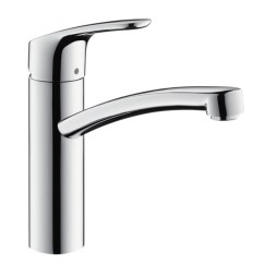 Kitchen Mixer Sliding Shelves Hansgrohe Focus Single Lever Swivel 160 Chrome Tap With 3 8 Connections