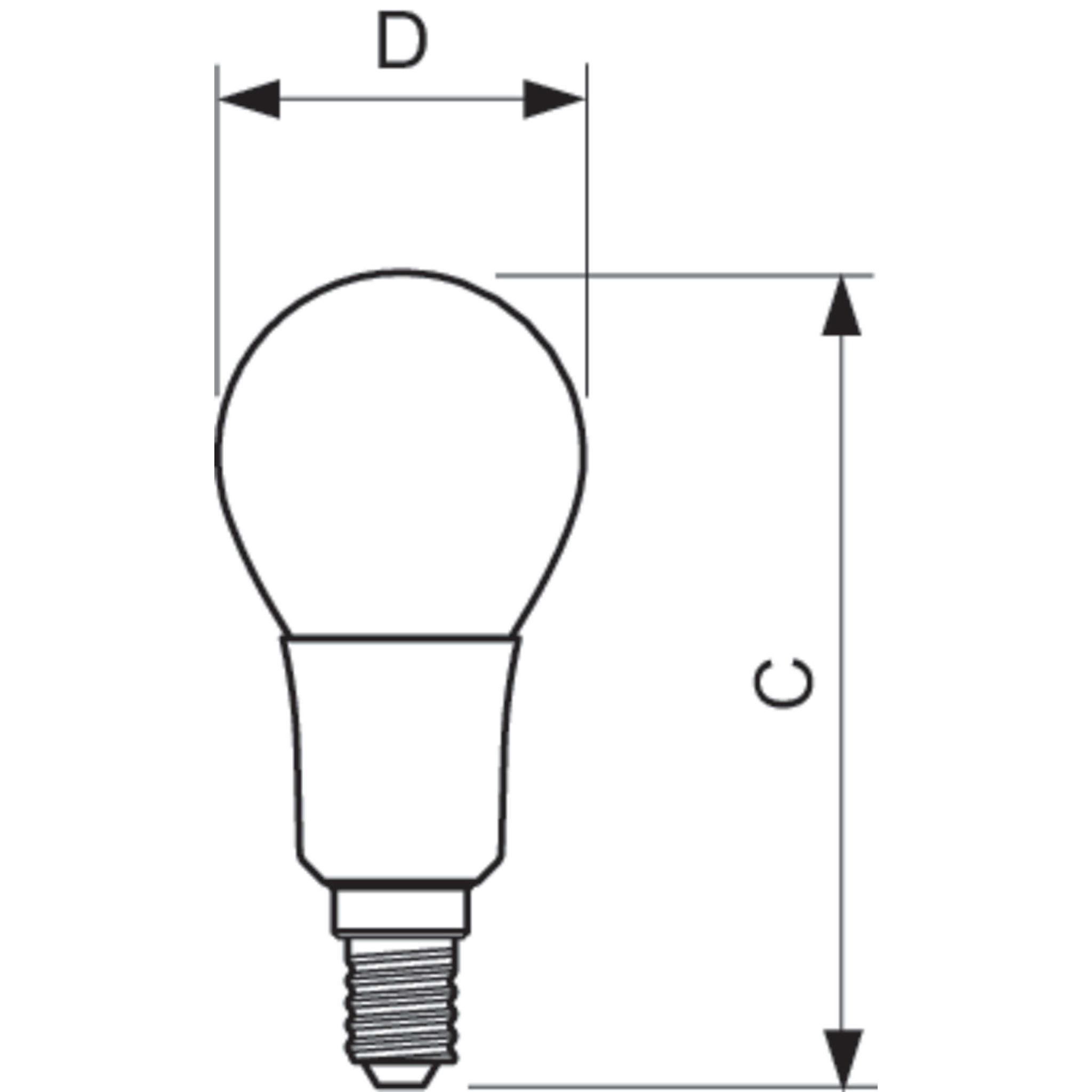 Philips Led Filament Bulb Clear P45 E14 4 5w K