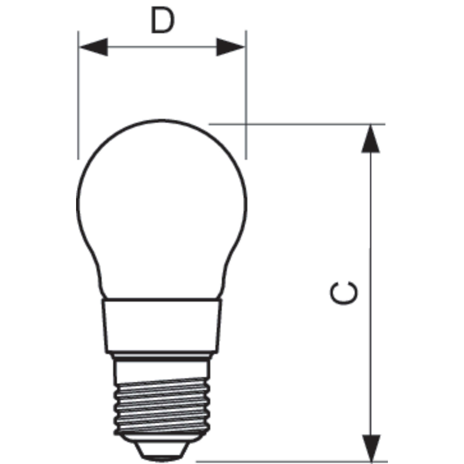 Philips Led Filament Bulb Clear P45 E27 4 5w K