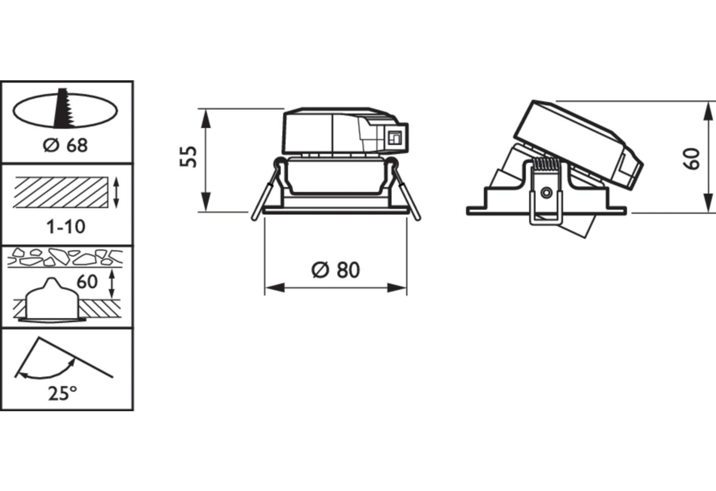 Philips Ledinaire RS061B ClearAccent LED Spotlight 6W